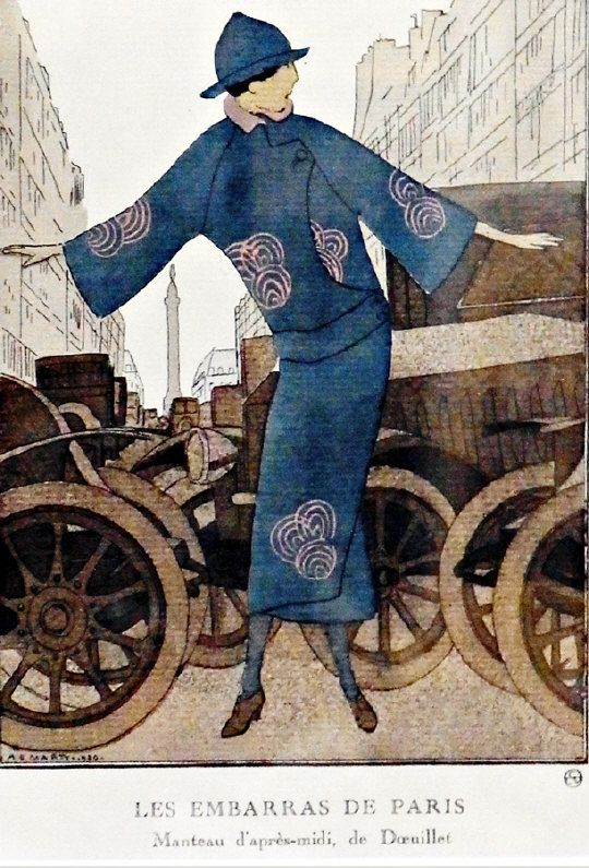 """Colour print after Andre Edouard Marty (1882-1974)  """"Les Embarras de Paris"""", dated 1920.  Estimate £30.00 to £40.00 (Lot no: 103 in sale on 05/08/2014) The Cotswold Auction Company"""