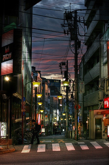 Tokyo street after sunset by The Other Martin Tenbones, via Flickr