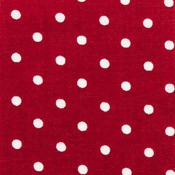 Textilvaxduk röd m vit prick att sy en markis av till Ls affär