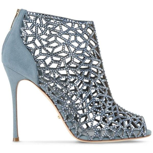 Sergio Rossi Tresor (2,525 CAD) ❤ liked on Polyvore featuring shoes, light blue, sergio rossi, light blue shoes and sergio rossi shoes