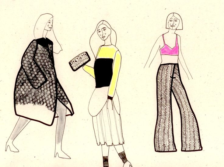 #illustration #MLC #FASHION #pencil #markers #minimal http://letiziamlc.tumblr.com/