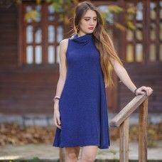ΦΟΡΕΜΑ ΠΛΕΚΤΟ ΜΠΛΕ ONE SIZE ΚΩΔ 7073