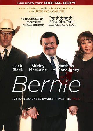 BERNIE DVD 2012 NEW COMEDY JACK BLACK MATTHEW McCONAUGHEY SHIRLEY MacLAINE NEW