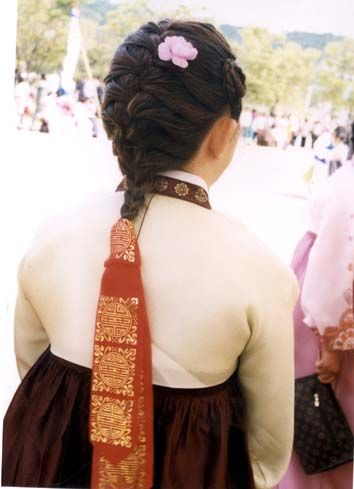 Asia - Korea, daenggi - a traditional Korean ribbon made of cloth to tie and to decorate braided hair