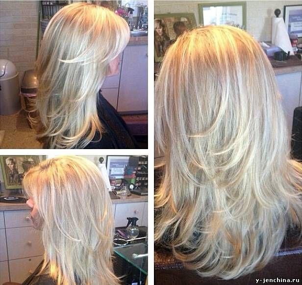 Стрижка объёмная на длинные волосы