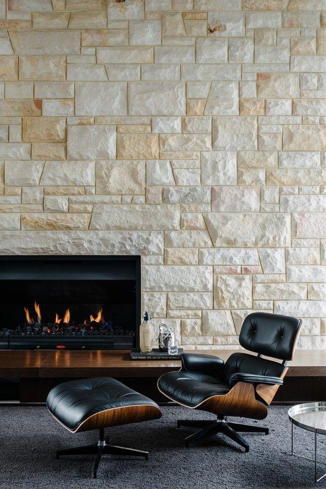 Steinpaneele Für Die Wohnzimmerwand