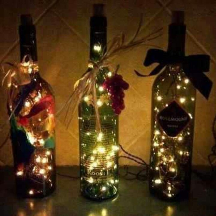 Cute idea for the kitchen for a more rustic look...... Need to go buy some wine now! Be back later to drink them up then to make these! How AWESOME are they....Love this!