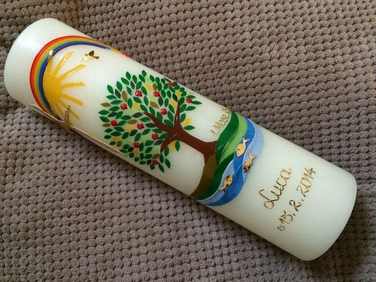Taufkerzen - Taufkerze Lebensbaum - ein Designerstück von babyprince bei DaWanda