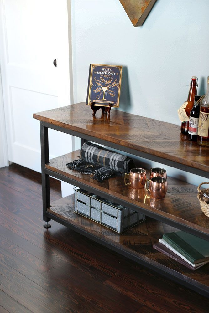 The Chevron Console Table in 2018 Modern Home Bar Designs