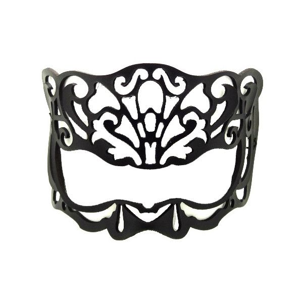 Victoriana leather mask for eyeglasses