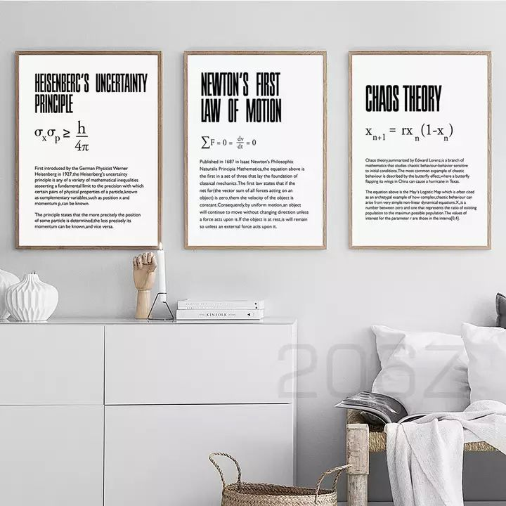 Time Dilation Physics Science Nordic Poster Quote Wall Art Canvas Painting Wall Pictures For Living Room