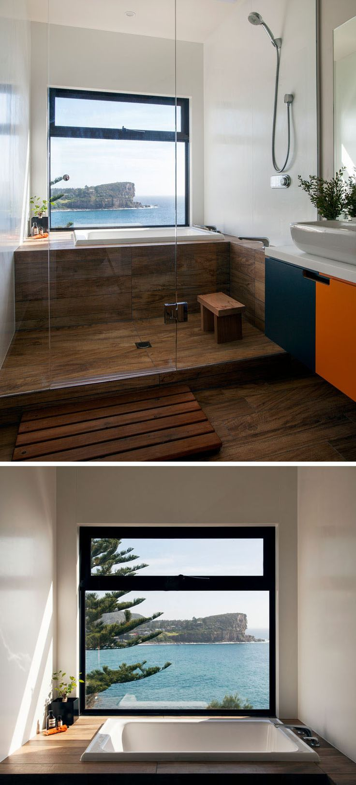 Bathroom Design Idea - Create a Spa-Like Bathroom At Home // Include a luxurious deep soaker tub.