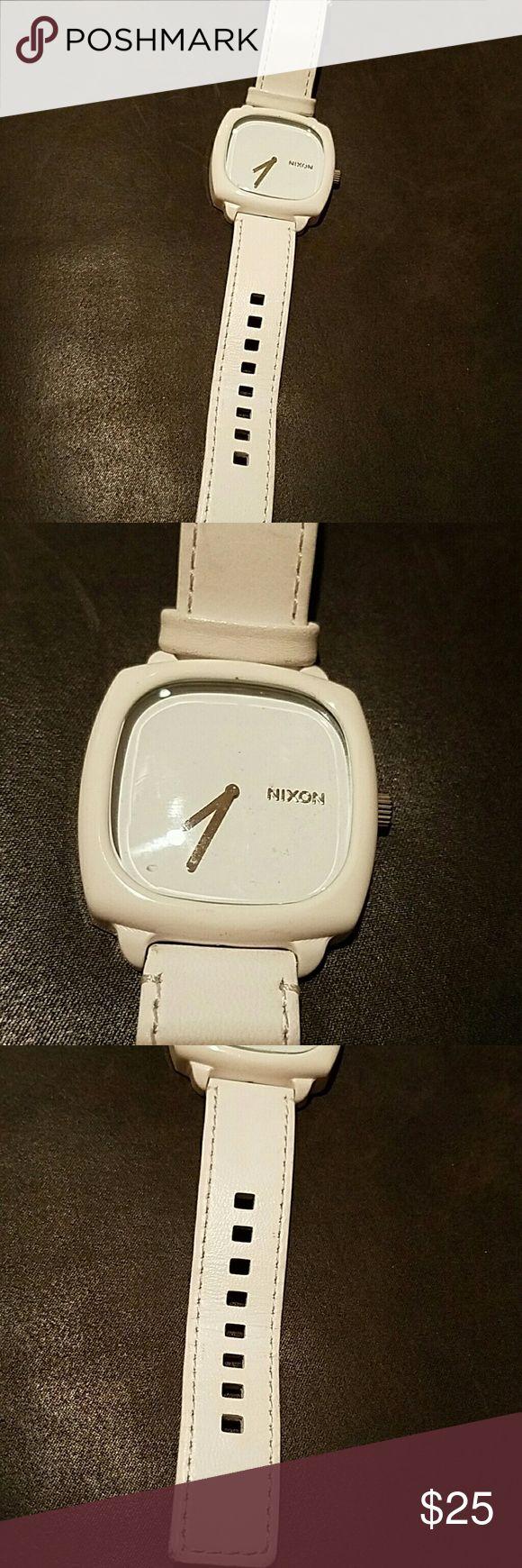 Nixon shutter watch Excellent condition white Nixon women's watch no box  needs new battery Nixon Accessories Watches