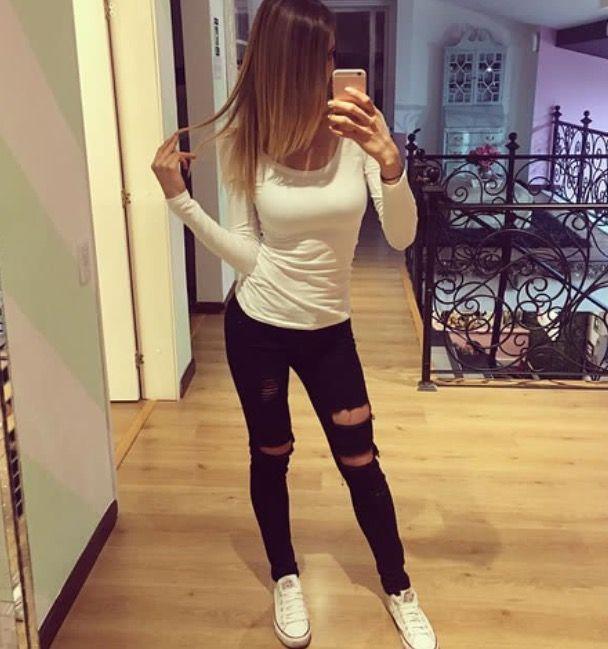 Black jeans || basic || converse || Pautips || Instagram