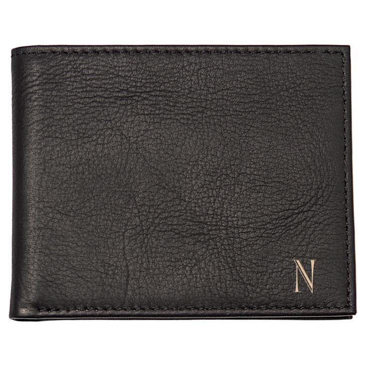 Monogram Bi-fold with Multi-Function Tool Groomsmen Gift Wallet - U, Men's, Black