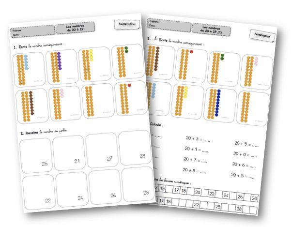 S'entrainer sur les nombres jusqu'à 99 avec Montessori