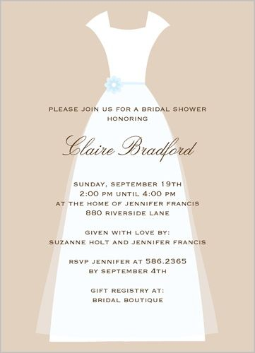 wedding couture bridal shower invitation