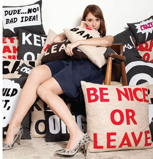 """Love that pillow. """"be nice or leave."""" if I ever own a shop of some sort or even a house, that's going on the door/a sign."""