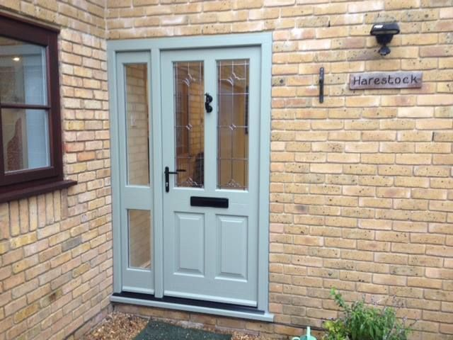 Kingston timber door with Bainton style side panel in Tent Grey with White interior and Black & 27 best Timber Entrance Doors images on Pinterest | Entrance doors ... Pezcame.Com
