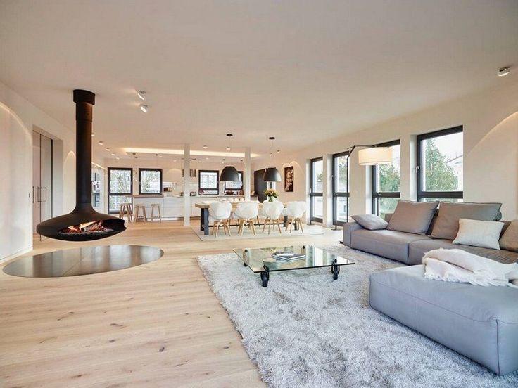 Meubles blanc et bois et salle de bain béton ciré- penthouse de - art deco mobel design alta moda luxus zu hause