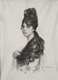 Portrait de femme by Ramón Casas