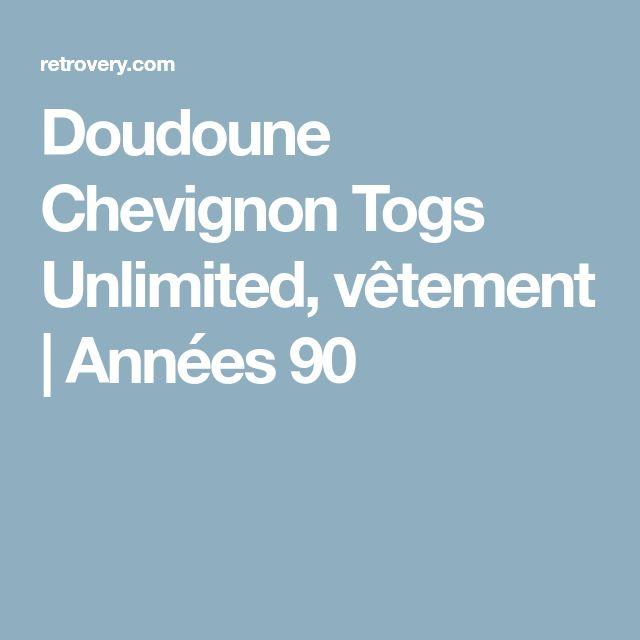 Doudoune Chevignon Togs Unlimited, vêtement   Années 90