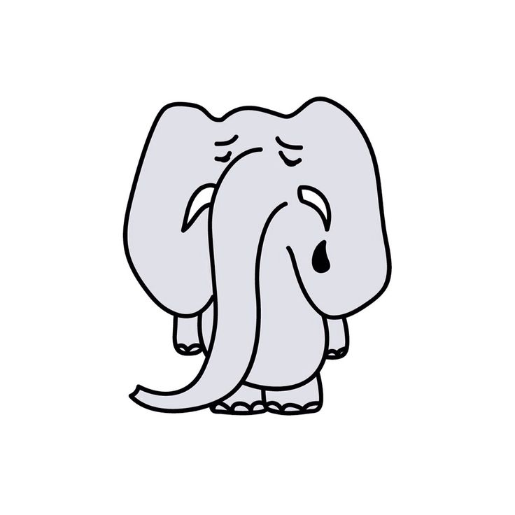 Liza.polesushkina #elefant #cry #illu