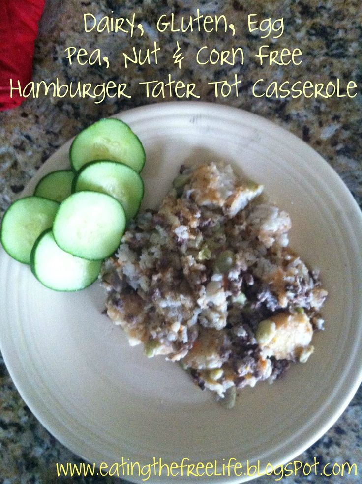 Eating the 'Free' life: Dairy, Gluten, Corn and Pea Free Hamburger Tater Tot Casserole