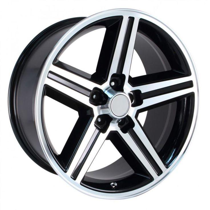 4 New 18X8 +8 Camaro IROC Black Machined 5X4.75 5X120.7 Replica Wheels Rims