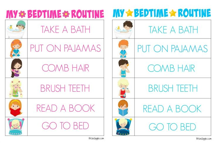 Printable Bedtime Routine Charts - Bitz & Giggles                                                                                                                                                                                 More