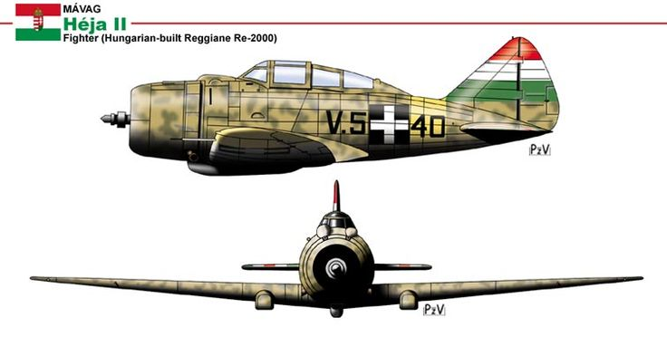 The original Piaggio P.XI engines were replaced by the Hungarian-built Manfred Weiss WM K-14 driving Hamilton Standard three-bladed, constant-speed propellers. The WM K-14 was a licensed copy of the French Gnome-Rhône 14K engine that necessitated a 1-foot 3-inch lengthening of the fighters' forward fuselage, to restore the center of gravity to a safe position. The Piaggio engine was itself also a copy of the Gnome-Rhône 14K, but less reliable than the original.