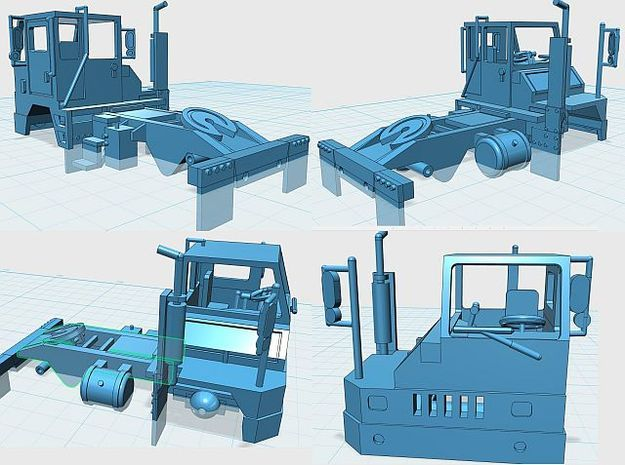 Yard Tractor 1-87 HO Scale Frosted Ultra Detail