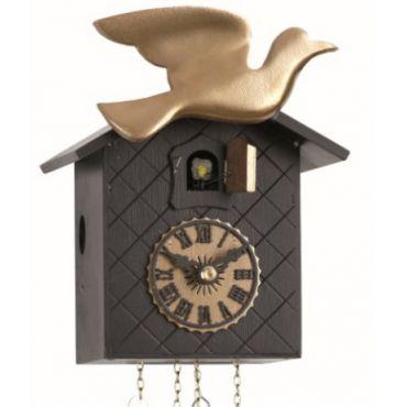 black glam carved cuckoo clock