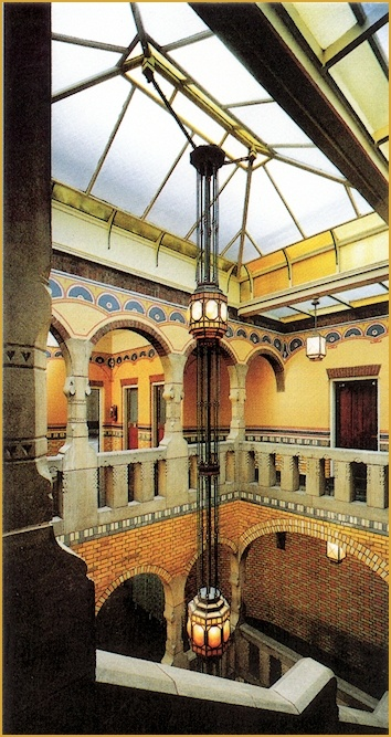 Arch. Berlage - Staircase in National Union Museum, Amsterdam