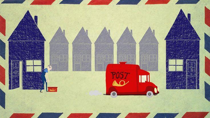 Een postbode die elke dag mooie kaarten rond brengt, krijgt zelf nooit eens post. Wanneer hij zelfs op zijn verjaardag niets krijgt, is hij er verdrietig. Gelukkig…