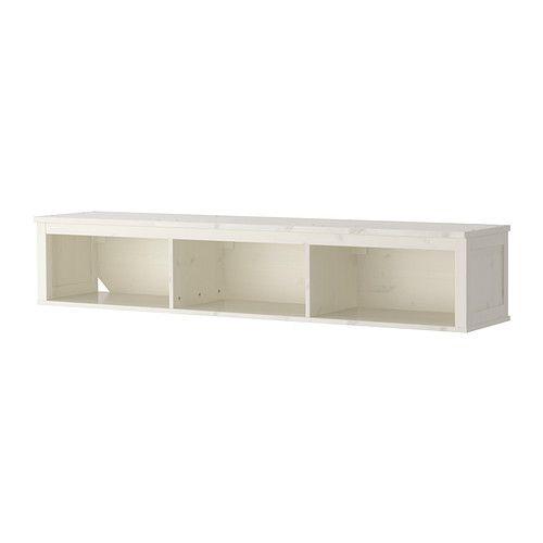 HEMNES Étagère murale/étagère-pont - teinté blanc - IKEA