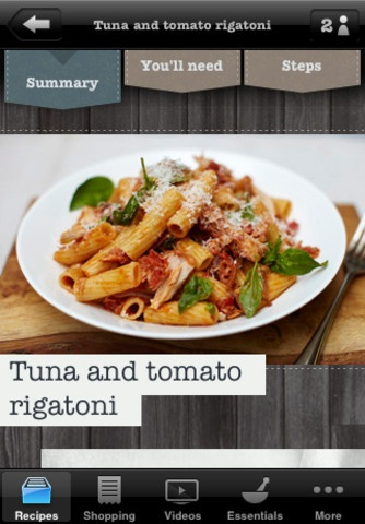 22 best cooking app inspiration images on pinterest baking center jamie oliver tuna and tomato rigantoni find this pin and more on cooking app forumfinder Images