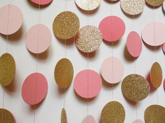 Ehi, ho trovato questa fantastica inserzione di Etsy su https://www.etsy.com/it/listing/236346424/blush-rosa-corallo-e-oro-glitter-cerchio