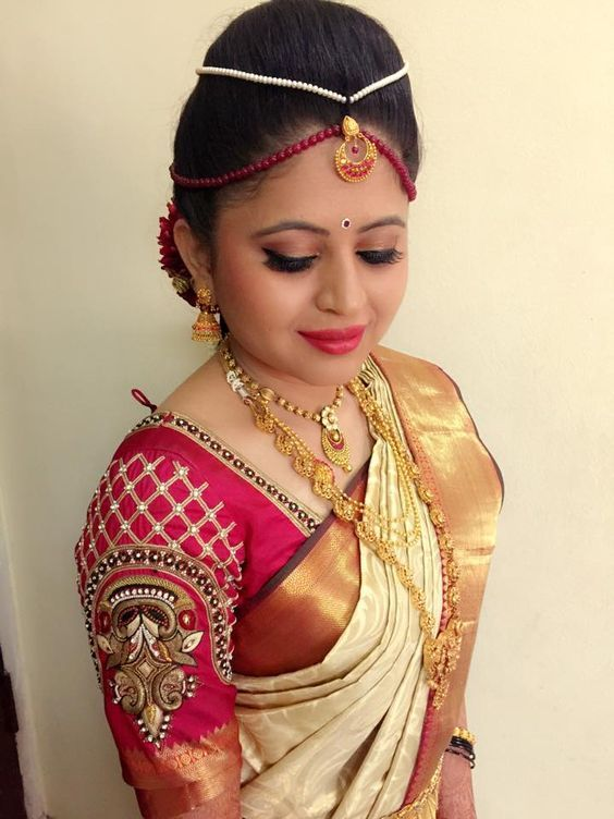 Lovely South Indian Bridal Blouse Design for your big day  #SouthIndian #BridalBlouse