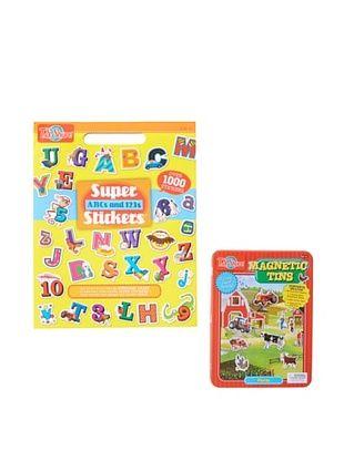 25% OFF T.S. Shure ABC Sticker Book & Farm Tin Set