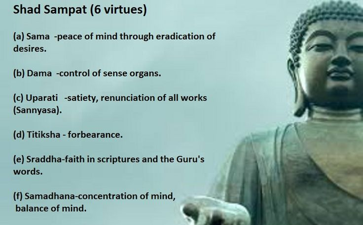 Shad Sampat - the six virtues  by Swami Sivananda   This is  the  third qualification of Sadhana Chatustaya  in the path of Jnana Yoga...