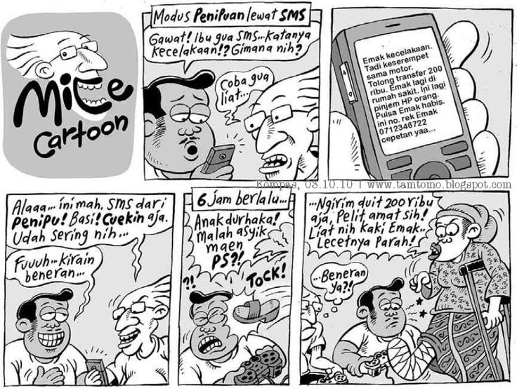 Mice Cartoon, Kompas - 03 Oktober 2010: SMS Penipuan
