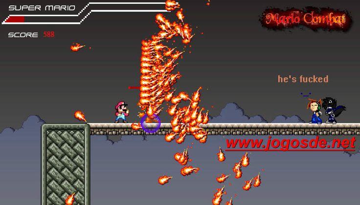 CLIQUE PARA JOGAR SUPER MARIO COMBATE NO CLICK JOGOS: Mario cansou de pular na cabeça dos inimigos e agora dará porrada em todos neste ótimo jogo de luta!