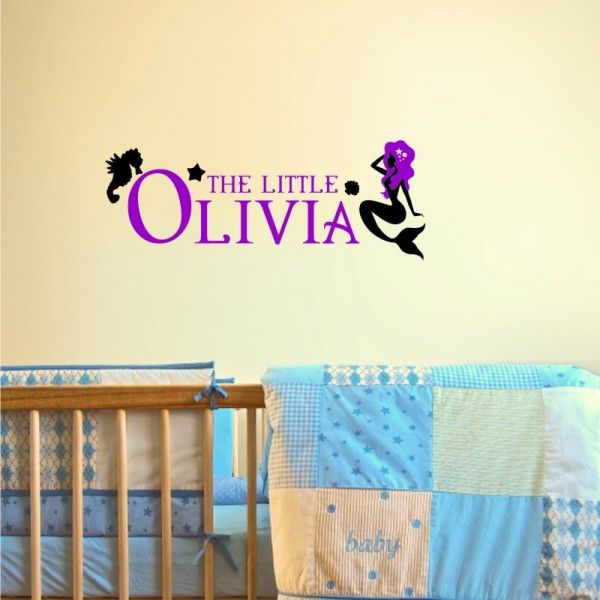 Custom made kids decal. Custom Name Little Mermaid Decal Available at wallineed.com