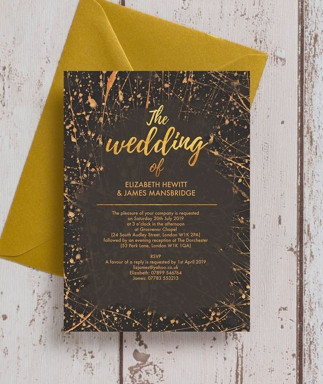 Black Gold Abstract Wedding Invitation Wedding Invitation Card Design Wedding Invitations Online Wedding Invitation Cards