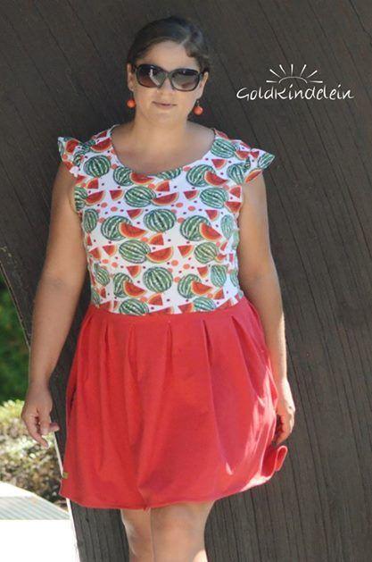 44915f8eb28 Das perfekte Kleid für den Strand! Luftige Kleider für Damen kannst du mit  dem Schnittmuster