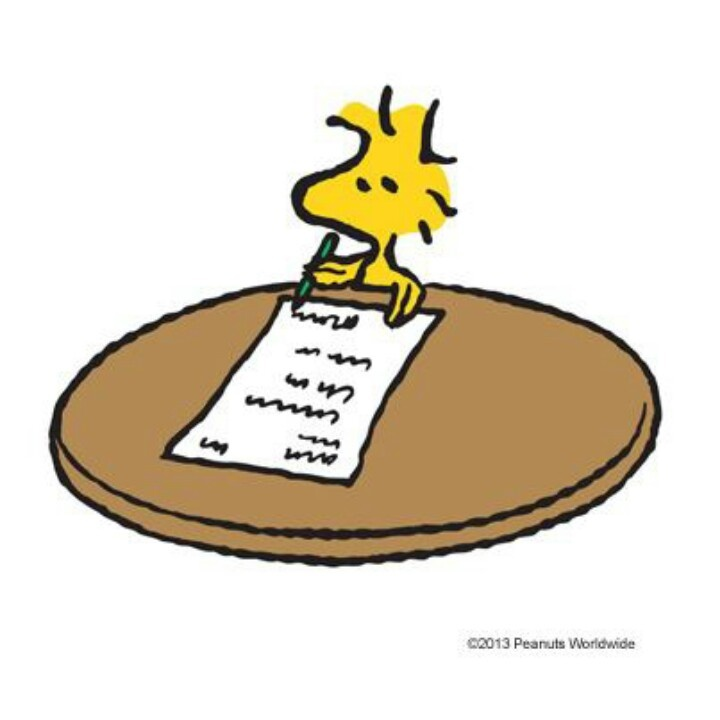 Image result for Woodstock making list cartoon