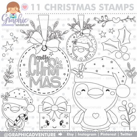 Christmas Stamps Christmas Coloring Pages Winter Stamps Etsy In 2021 Christmas Coloring Pages Coloring Pages Winter Christmas Colors