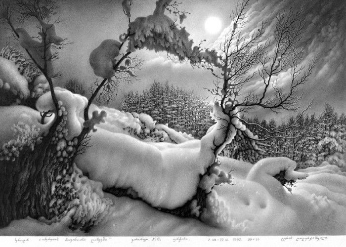 карандашный рисунок Гурам Доленджашвили - 04