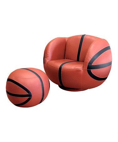 Basketball Chair & Ottoman Set |Pinned from PinTo for iPad| I WANT